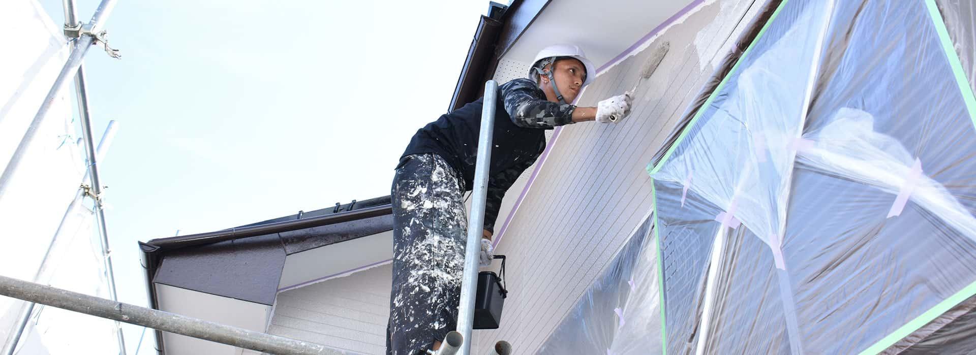 横浜市瀬谷区にて外壁塗装 〜足場組み立て・高圧洗浄〜