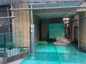 渋谷区にて外壁塗装工事