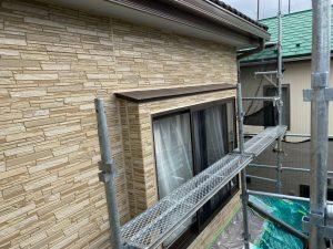 下屋根部分のコーキング打ち替え完成