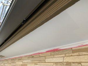 下屋根の軒塗装 完工
