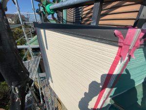 バルコニー外壁側のサイディング貼り