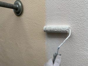 東京都大田区にて外壁塗装工事 外壁下塗り