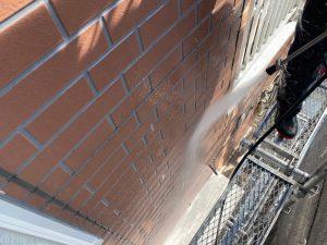 外壁塗装工事 高圧洗浄