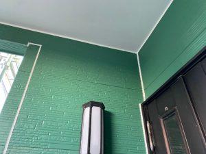 一階玄関周り コーキング充填