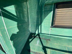 三浦市にて外壁塗装工事 コーキング充填