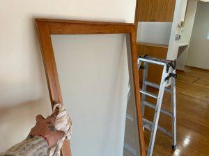 窓枠、網戸枠、窓台にオイルステン