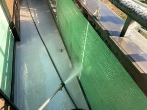 三浦市にて外壁塗装工事 高圧洗浄