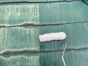 大屋根の下塗り塗装