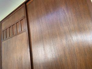 木雨戸、玄関ドアにクリアー塗装