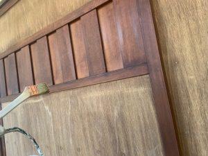木雨戸のケレン作業、そしてキシラデ塗装