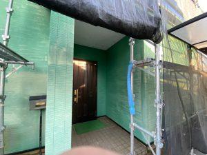 三浦市にて外壁塗装工事 施工前