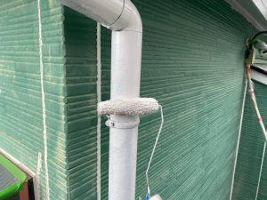 雨樋の上塗り塗装