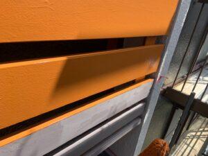 二階の目隠し部分の木部塗装